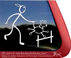 Agility Stick Dog Window Decal