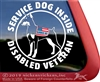 Service Dog Doberman Pinscher Car Truck RV Window Decal Sticker