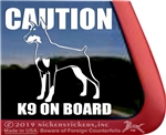 Doberman Pinscher Window Decal