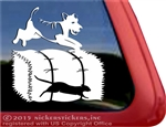 Custom Lakeland Terrier Barn Hunt Dog Vinyl Car Truck RV Window Decal Sticker