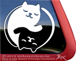 Yin Yang  Kitty Cat  iPad Car Truck Window Decal Sticker