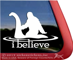 Bigfoot Big Foot Sasquatch Loch Ness Monster  Window Decal