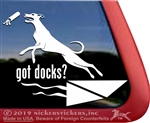 Whippet Dock Dog Window Decal