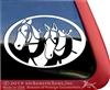 Draft Horse Driving Window Decal