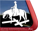 Competitive Trail Horse Trailer Window Decal