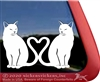 Custom Heart Cats Window Decal