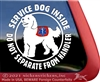 Doodle Service Dog Car Truck RV Window iPad Decal Sticker