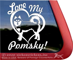 Pomsky Window Decal