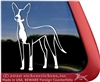 Custom Sighthound Mix Dog Window Decal