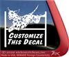 Custom Dalmatian Agility  Dog Car Truck RV Window iPad Tablet Laptop Decal Sticker