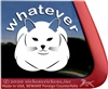 Whatever Kitty Cats Window Decal