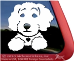 Custom Schnoodle Dog Car Truck RV Window Decal Sticker