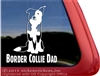 Split Face Border Collie Dad Car Truck RV Window Decal Sticker