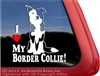 Split Face Border Collie Love Car Truck RV Window Decal Sticker