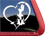 Custom Split Face Border Collie Dog Car Truck RV Window Decal