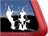 Custom Pair of Border Collies Dog Car Truck RV Window Decal Sticker