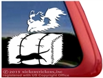 Custom Papillon Barn Hunt Dog Car Window iPad Decal Sticker