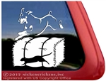 Doberman Barn Hunt Dog Car Truck RV Window Decal Sticker