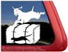 Custom Vizsla Barn Hunt Dog Car Truck RV Window Decal Sticker