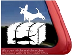 Custom Dachshund Barn Hunt Dog Window Car Truck RV Decal
