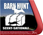 Dachshund Barn Hunt Window Decal