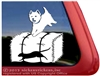 Custom West Highland White Terrier Barn Hunt Dog Car Window iPad Decal Sticker