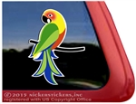 Custom Sun Conure Parrot Bird Car Truck RV Window Decal Sticker