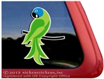 Custom Blue Crowned Conure Parrot Bird Car Truck RV Window Decal Sticker