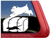 Schnauzer Barn Hunt Window Decal