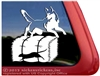 Siberian Husky Barn Hunt Dog Window Decal