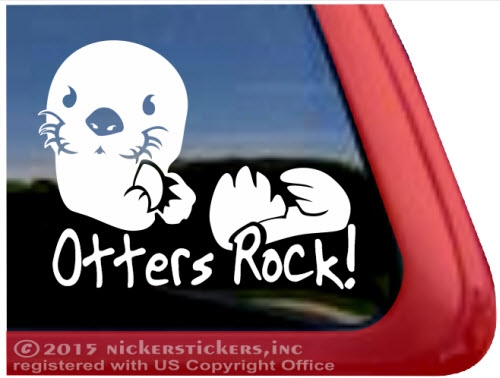 Sea otter window decal · larger photo email a friend