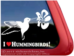 Hummingbird bird Window Decal