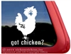 Chicken Car Truck RV Trailer Window Decal Sticker