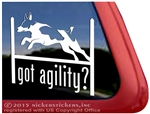 Rat Terrier Agility Dog Car Truck RV Vinyl Window Decal Sticker