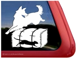 German Shepherd Barn Hunt Rat Dog Window Decal Sticker