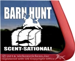 Sent-Sational Jack Russell Terrier Barn Hunt Dog Window Decal