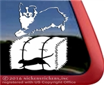 Australian Shepherd Barn Hunt Rat Dog Window Decal