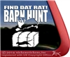 Find Dat Rat Australian Shepherd Barn Hunt Dog Window Decal