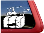Border Collie Barn Hunt Dog Window Decal