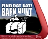 Find Dat Rat Border Collie Barn Hunt Dog Window Decal