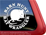Barn Hunt Rat Wrangler Car Truck RV Window Decal Sticker