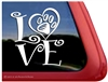 Paw Print Love Dog Car Truck RV Window Decal Sticker
