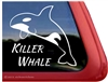 Orca Whale Window Decal