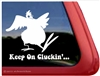 Keep on Cluckin' Chicken Hen Rooster Car Truck RV Trailer Window Decal Sticker