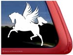 Leaping Pegasus Winged Horse Equine Car Truck RV Window Decal Sticker
