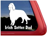 Irish Setter Dad Dog Car Truck RV Window Decal Sticker
