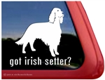Got Irish Setter Dog Car Truck RV Window Decal Sticker