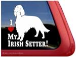 I Love My Irish Setter Dog Car Truck RV Window Decal Sticker