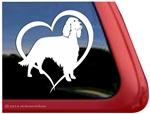 Irish Setter Heart Dog Car Truck RV Window Decal Sticker