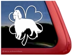 Good Luck Clover Irish Setter Heart Dog Car Truck RV Window Decal Sticker